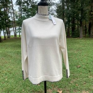 Cashmere Thermal Style Longsleeve Sweater